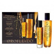Orofluido Overnight Beauty Ritual Set - Набор для интенсивного ухода 200 мл+50 мл