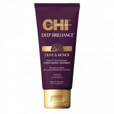 CHI Deep Brilliance Olive & Monoi Optimum Protein Masque - Протеиновая маска для волос 236мл