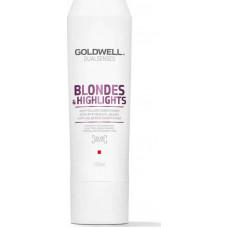 """Кондиционер """"Goldwell Dualsenses Blondes & Highlights Anti-Yellow Conditioner"""" 200мл против желтизны для осветленных и мелированных волос"""