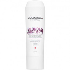 "Шампунь ""Goldwell Dualsenses Blondes & Highlights Anti-Yellow Shampoo"" 250мл против желтизны для осветленных волос"