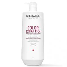 """Кондиционер """"Goldwell Dualsenses Color Extra Rich Brilliance Conditioner"""" 1000мл интенсивный для блеска окрашенных волос"""