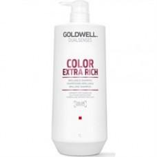 """Шампунь """"Goldwell Dualsenses Color Extra Rich Brilliance Shampoo"""" 1000мл интенсивный для блеска окрашенных волос"""
