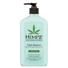 "Молочко ""Hempz Herbal Body Triple Moisture тройное увлажнение"" 500мл для тела"