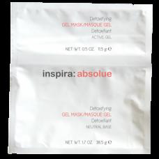 "Гель-маска ""Inspira Cosmetics inspira:absolue Detoxifying Mask with Active Charcoal & Mint детоксицирующая моделирующая гидро"" 5 х 50гр Г"