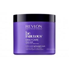 "Маска ""Revlon Professional Be Fabulous C.R.E.A.M. Mask For Fine Hair"" 500мл для тонких волос"
