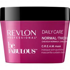 """Маска """"Revlon Professional Be Fabulous C.R.E.A.M. Mask For Normal Thick Hair"""" 200мл для нормальных/густых волос"""