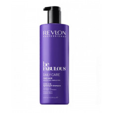 "Шампунь ""Revlon Professional Be Fabulous C.R.E.A.M. Shampoo For Fine Hair"" 1000мл очищающий для тонких волос"
