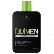 Schwarzkopf 3D Men Deep Cleansing Shampoo 250мл