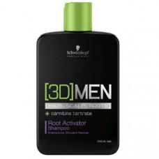 Schwarzkopf 3D Men Root Activator Shampoo 250 мл