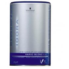 Schwarzkopf NEW Igora Vario Blond Lightener Plus Порошок для обесцвечивания волос не образующий пыли (серый)  450 г