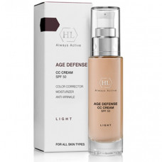 Holy Land Age Defense: Корректирующий крем для лица, светлый оттенок (CC Cream Light SPF50), 50мл